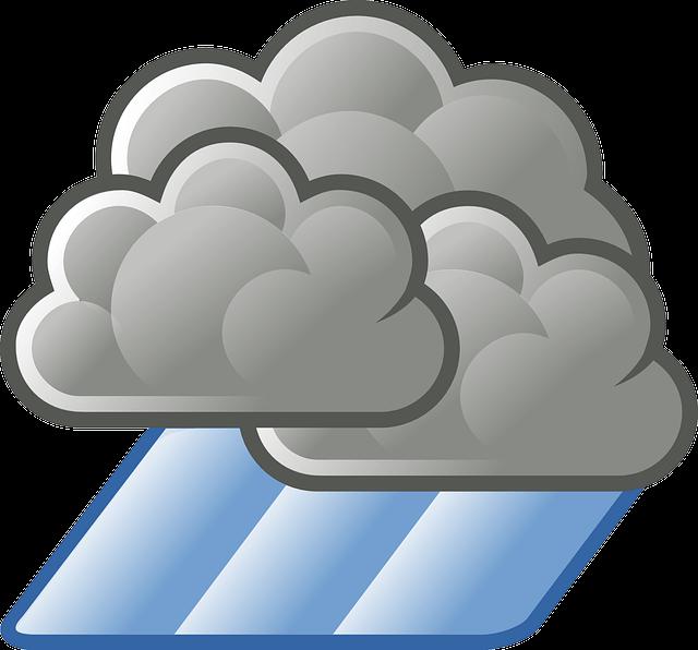 Icone nuage et pluie
