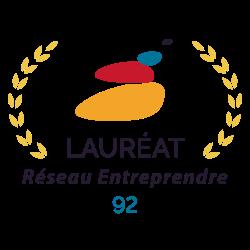 logo Lauréat réseau entreprendre 92